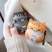 Apple Airpods Case 1 2 PRO Kucing Cat Animal Cute Soft Casing Silicon - Orange Gen 1 2