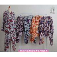 One Set Piyama PP Bigsize/Jumbo Tye Dye - Kasual dan Santai