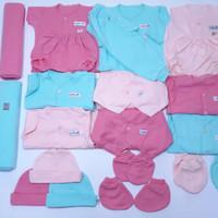 LITTLE Q PAKET BAJU BAYI NEW BORN GIRL POLOS LENGKAP - MELAHIRKAN