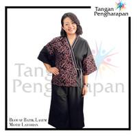 Blouse Batik Lasem Motif Latohan Tangan Pengharapan - Merah Muda, S