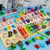Montesori Puzzle/ Mainan Edukasi Anak / Macaroon Shape Wooden/