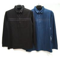 Kaos Polo Shirt Lengan Panjang Pria Kerah Import (#313)