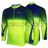 Jersey Sepeda Lengan Panjang Full Zipper/Baju Sepeda/Baju Gowes