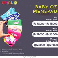 BABY OZ - Minipad untuk keputihan  Pembalut wanita kain - POLOS