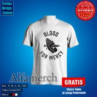 Baju Kaos Distro BLOOD FOR MERCY YELLOW CLAW polos ALFAMERCH