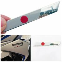 sticker motor mobil bendera japan jepang emblem logo jdm flag almunium