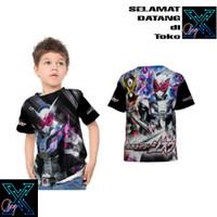 Baju Kaos Kamen Rider Zi-O Zio Anak Cowok & Cewek Ukuran 1-10 Tahun