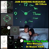 Jam Dinding Besar Bisa Nyala Di Malam Hari DIY Glow in The Dark 80-130