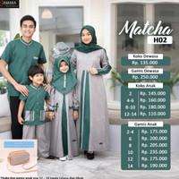 Or990 Samara H02 Matcha Baju Sarimbit Keluarga Busana Muslim Gamis Cou