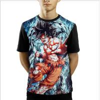 Baju Kaos Anak Laki-Laki Dan Perempuan Goku Dragon Ball Z - S