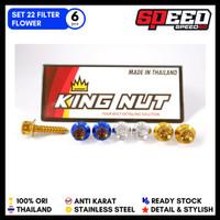 Set Baut Filter Honda Vario Scoopy Beat Pcx Adv Probolt Stainless King - Flower, Gold