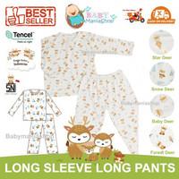 HIKARUSA LONG SLEEVE LONG PANTS Baju Tidur Bayi Anak TENCEL SETELAN