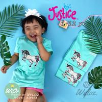 Baju Kaos Anak Unicorn Perempuan Cewek Justice Branded Import Original