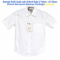 Kemeja Putih Anak Laki 3- 15 Tahun seragam putih anak remaja