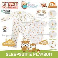 HIKARUSA SLEEPSUIT PLAYSUIT Baju Tidur Bayi TENCEL Set JUMPSUIT