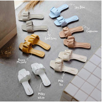 Alivelovearts Scrunchie Strap Sandal Flat Wanita