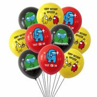 10pcs Balon Latex Motif Game Among Us/Dekorasi ulang tahun/pesta/gamer
