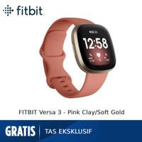 Fitbit Versa 3 [FB511GLPK-FRCJK] - Pink Clay/Soft Gold