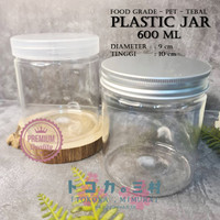 [Premium] Jar Toples Plastik 600 ml - Packaging Kemasan Kue Makanan