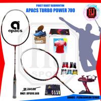 PAKET KOMPLIT Raket Apacs Turbo Power 700 Badminton