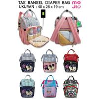 Tas Ransel Diaper Bag Disney Mickey Minnie / Mommy Bag / Tas Susu Bayi