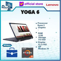 Laptop Lenovo yoga 6 13are 2in1 touch Ryzen 5 4650 8gb 512ssd 13.3fhd