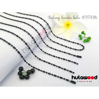Kalung rantai Titanium Stainless BAMBU BOLA HITAM/ Kalung Rantai MCI