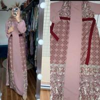 Gamis Muslim Terbaru Gamis Syari Wanita Dress Wanita MODREN PESTA - PINK