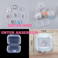 kotak mini plastik tempat penyimpanan perhiasan aksesoris anting box