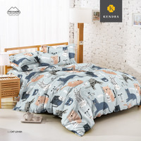 KENDRA Sprei Set Uk.180x200x20 King Size Bed - Cat Lover