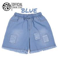Promo Hotpants Soft Jeans Renda Premium Japanese Pants Casual - Blue, XL