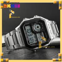Jam Tangan Pria Digital Sport SKMEI 1335 Original SILVER Casio