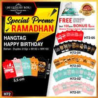 Hangtag happy birthday|Hangtag|Hang tag Murah|Hangtag Ulang Tahun|H72 - H72-05