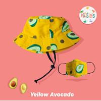 Topi Bucket Anak/ Topi Face Shield Anak Bayi/ Topi Anak Motif Buah