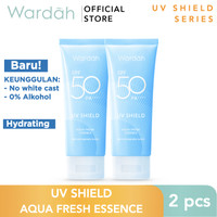 Wardah UV Shield Aqua Fresh Essence SPF 50 Twin Pack