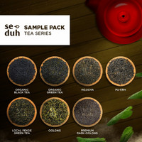 Sample Pack TEA Series A - Green Tea Hojicha Black Tea Pu Erh Oolong