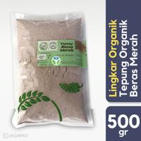 Lingkar Organik - Tepung Beras Merah 500gr - Organik - Bebas Gluten