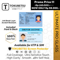 Tokubetsu EKTP /SIM Anti Gores Hydrogel Ultimate Pro -Screen Protector - Sim Front Back