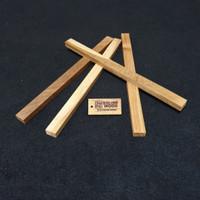 stik kayu Jati 30cm x 2cm x 1,2cm kaso / reng / balok