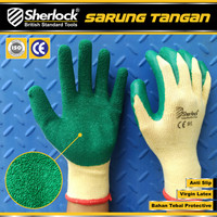 Sarung Tangan Proyek Latex Anti Slip 310 Safety Gloves Sherlock uk. L