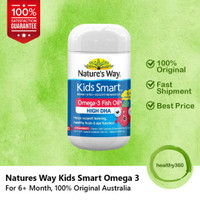 Natures Way Kids Smart Omega-3 High DHA Fish Oil for Brain