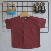 Pakaian Bayi Laki Laki / Baju Koko Bayi - Maroon