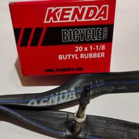 ban dalam sepeda merk kenda ukuran 20x1-1/8(451-28) pentil presta 6cm