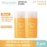Wardah UV Shield Active Protection Serum SPF 50 Twin Pack