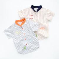 HEYTIMMY Kemeja Anak Motif Stripe Kerah Koko Marva Shirt