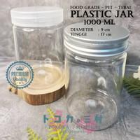 [Premium] Jar Toples Plastik 1000 ml - Packaging Kemasan Kue Makanan