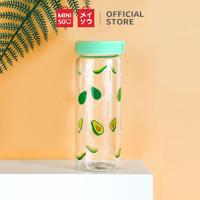 MINISO Botol Minum Air Kaca Borosilikat Tinggi Tempat Gelas 300ml