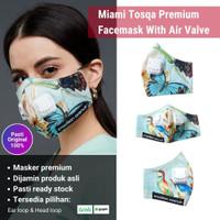 2Madison Miami Tosqa Premium Facemask With Air Valve