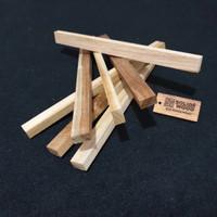 stik kayu Jati 26cm x 2cm x 1,2cm kaso / reng / balok