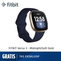 Fitbit Versa 3 [FB511GLNV-FRCJK] - Midnight/Soft Gold